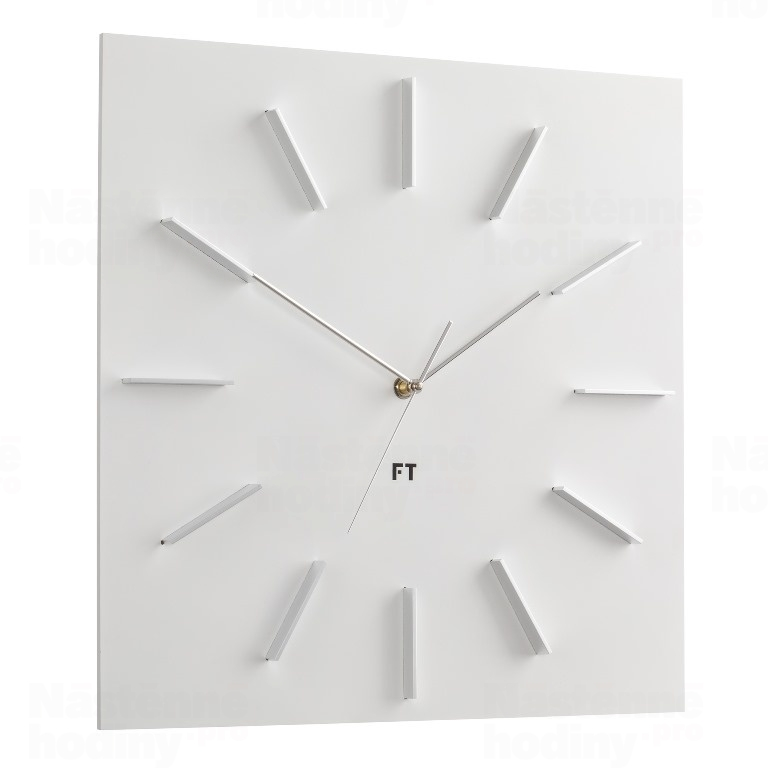 Wall Clock Future Time Ft1010wh Square White 40cm